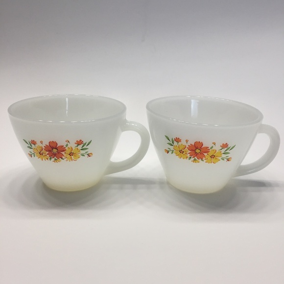 Fire King Other - Two Fire King Coffee Cups Mugs Anchor Hocking 24